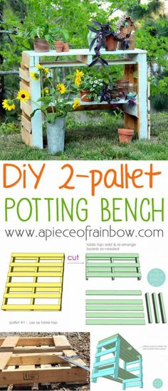 Pallet Potting Bench | Pallet Projects For Your Garden This Spring