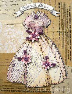 Special Dress Mixed Media CollageOriginal by PaulaJoerlingStudio, $78.00
