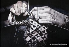 """""""Trigger Finger"""" by Newfoundland Artist, Keli-Ann Pye-Beshara. Acrylic on plywood original painting and art prints. See website for story behind this painting… Lynda Barry, Trigger Finger, Finger Art, Fine Art Prints, Original Paintings, The Originals, Ann, Artwork, Pictures"""