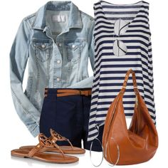 Shorts and Stripes, created by wishlist123 on Polyvore
