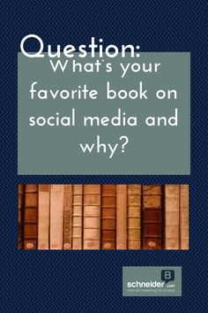 What's your favorite book on social media and why?  Answer: http://www.schneiderb.com/questions/whats-favorite-book-social-media/