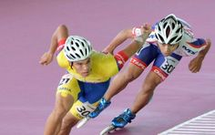 Jaime Uribe, campeón mundial de pista en los 500 metros baterías juveniles, en… Speed Skates, Inline Skating, Pista, Taipei, Running, World Championship, Roller Blading, Colombia, Sports