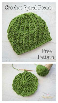 Slouchy Spiral Hat Free Crochet Pattern