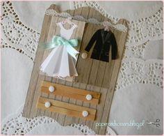 kartka z okazji ślubu szafa | paper and scissors