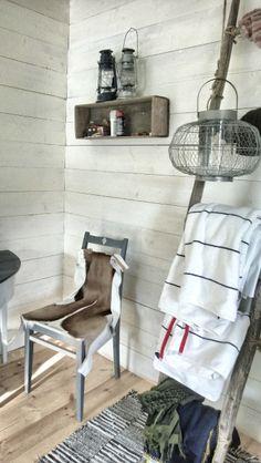 Scandinavian style, raw fishing cottage interior