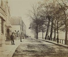 Cheyne Walk looking east from Cheyne Row circa 1870 - 19th Century