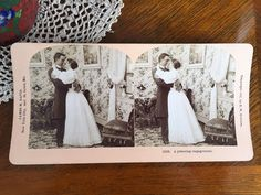 "Antique Stereograph Card ""A pressing engagement"" by B. Vintage Labels, Vintage Postcards, Lazy Sunday, Vintage Advertisements, All Things, Engagement, Black And White, Antiques, Shop"