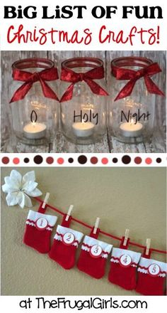 BIG List of Fun Christmas Crafts! ~ from TheFrugalGirls.com ~ get inspired with loads of fun holiday Crafts and Homemade Gift Ideas! #craft #thefrugalgirls
