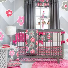 Addison Collection...Gray + Pink for the nursery