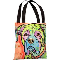 """""""The Boxer"""" 18""""x18"""" Tote Bag by Dean Russo"""