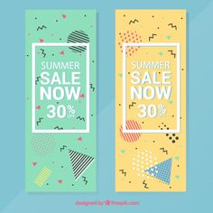 Special offer banners set Free Vector