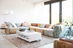Tribeca sofa makes you have a summery feel all year !!