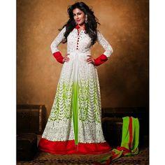 Chitrangada Singh Off White Net #Anarkali Suits- $107.89