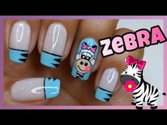 DECORACIÓN DE UÑAS ZEBRA ♥ NailArt By Andy - YouTube New Nail Art, Cool Nail Art, Youtuber Merch, Madam Glam, Best Nail Art Designs, Beautiful Nail Art, Simple Nails, Trendy Nails, Zebra Nails