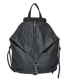 Another great find on #zulily! Black Zip Backpack #zulilyfinds