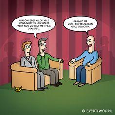 Waarom zegt ie niks? #cartoon
