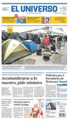 Portada de #DiarioELUNIVERSO del 18 de marzo del 2014. Las #noticias de #Ecuador y el mundo en: www.eluniverso.com