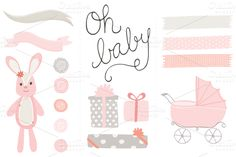 Check out Oh Baby Girl Clip Art PNG by Angie Sandy on Creative Market