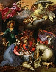 Nativity Art - Adoration of the Shepherds  by Abraham Bloemaert