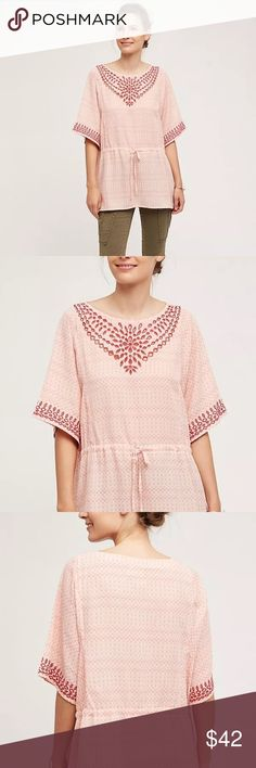 One September Anthropologie Sz M Euphemia Top New with tags. Embroidered eyelet design with drawstring waist. Tops Blouses