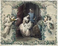 Real couple Franz Josef I and Empress Elisabeth of Austria. The Imperial Family of Austria-Hungary.