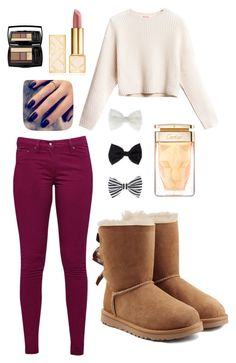 """""""How to Style UGG Boots"""" by bubbleblower22 on Polyvore featuring UGG Australia, Great Plains, Accessorize, Tory Burch, Lottie and Lancôme"""