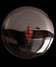 """Bleeding""2008 - 2013 Mirror Series Convex Mirror, Oil on MirrorCircle Diameter: 60 cm / Height: 15cm  #art #artist #contemporary #contemporaryart #contemporaryartist #mirror #ismetdogan"
