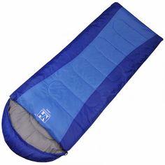 NatureHike 1 Person Blue Outdoor Camping Envelop Sleeping Bag Flannel Sleeping Bag(Blue)
