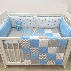 Colcha de bebe Baby Bedding Sets, Baby Nursery Bedding, Baby Boy Nurseries, Baby Cribs, Crib Bedding, Kids Beds For Boys, Kid Beds, Baby Room Diy, Baby Room Decor