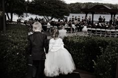 #Wedding #flowgirl #ringbearer #outdoorwedding Backdrops, Reception, Flower Girl Dresses, Golf, Club, Wedding Dresses, Celebrities, Outdoor, Beautiful