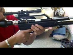 it`s a PCP pump action, single-shot with tasco 4 x 20 scope rifle. Off Grid Survival, Survival Bow, Survival Weapons, Outdoor Survival, Homemade Weapons, Shooting Guns, Sig Sauer, Fire Powers, Air Rifle