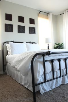 Thrift Store Headboard   The Wood Grain Cottage Painted with oil rubbed bronze spray paint.