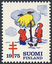 フィンランド クリスマスシール 1975年 - Pass+Time~伝えたかった雑貨の仕事~