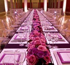 modern glamorous wedding centerpiece idea; via Amaryllis Floral and Event Design