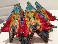 Contemporary Geometric Beadwork. My own fortuneteller bracelet, design Vandervlist with Kate McKinnon.