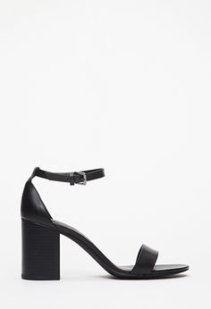 Ankle Strap Faux Leather Sandals   FOREVER21 - 2049258863 $24.90
