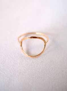 Skinny Gold Infinity ring Made to Order gold by hannahnaomi