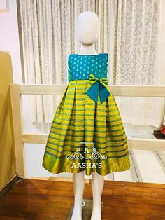 Ekam aru dress Frocks For Girls, Dresses Kids Girl, Kids Outfits, Frock Patterns, Kids Dress Patterns, Baby Dress Design, Frock Design, Indian Dress Up, Kids Blouse Designs
