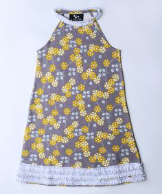 Look what I found on #zulily! Veronica Pinwheel Ruffle Bertoia Swing Dress - Toddler & Girls #zulilyfinds