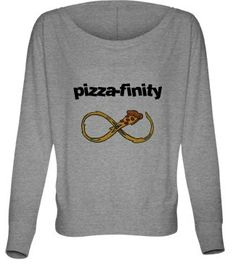 Hey, I found this really awesome Etsy listing at https://www.etsy.com/listing/165211048/pizza-finity-vintage-sweatshirt