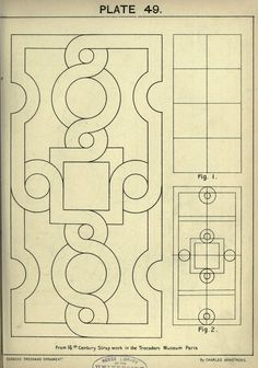 see site for many more - 1895 - Cusack's freehand ornament. A text book with chapters on elements, principles, and methods of freehand drawing, for the general use of teachers and students . by Armstrong, Charles Geometric Designs, Geometric Art, Tangle Patterns, Embroidery Patterns, Tattoo Painting, Motif Arabesque, Ornament Drawing, Leather Carving, Celtic Knot
