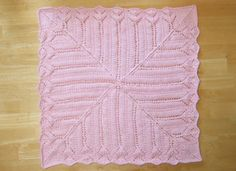 Free Knitting Pattern - Baby Blankets & Afghans: Tiffany Lace Baby Blanket