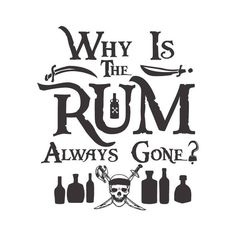 I'm the Reason the Rum Is Always Gone, Disney's Pirates of the Caribbean cuttable SVG Pirate Crafts, Johny Depp, Boat Names, Desenho Tattoo, Pirate Life, Disney Quotes, Disney Fonts, Cricut Creations, Disney Crafts