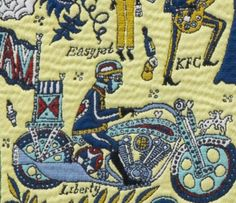 'The Walthamstow Tapestry' (detail) by Grayson Perry, 2009 Grayson Perry Tapestry, Grayson Perry Art, Political Art, Social Change, Event Calendar, Art Themes, William Morris, Exhibitions, Contemporary Artists