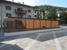 #Trentino #Italy #benches #concrete. #Bellitalia very elegant street furniture solutions