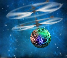 GOTD RC Flying Ball Drone Helicopter Ball Built-in Shinning LED Lighting for Kids Toy, Green ** Be sure to check out this awesome product.
