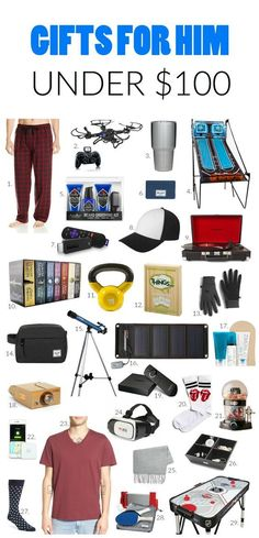 Gift Ideas For Him Under 100 Birthday Gifts BoyfriendBirthday