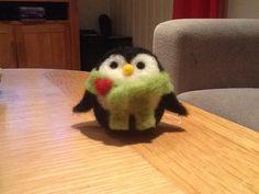 Needle felted Christmas penguin