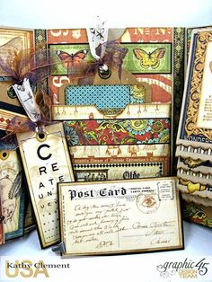 Olde Curiosity Shoppe Folio, Olde Curiosity Shoppe, by Kathy Clement, Product by Graphic 45,