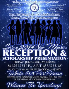 Are You Ready?! Join the ladies of Zeta Phi Beta Sorority, Incorporated - Alpha Delta Zeta Chapter as we present our newest members to society. There will also be a scholarship presentation to our debutantes. This event will be held on Friday, June 6, 2014 at 7:00 pm at the Mississippi Museum of Art in downtown